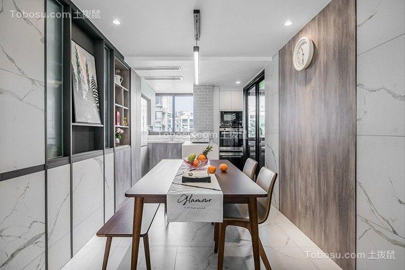 120平方米现代风格3房餐厅装修效果图