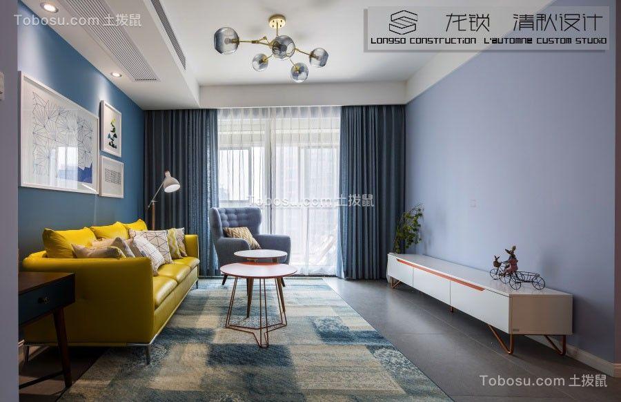 华润国际90平北欧风格三居室图片