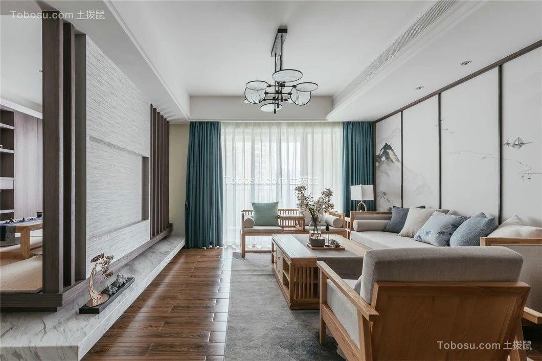 130平方米中式风格二居室装修效果图