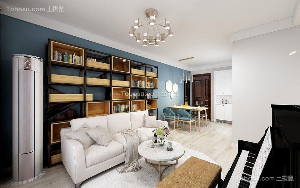 越秀君悦府114平现代简约风格3房2厅效果图
