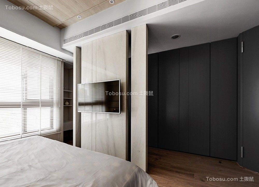 85平簡約風格3房臥室裝修效果圖