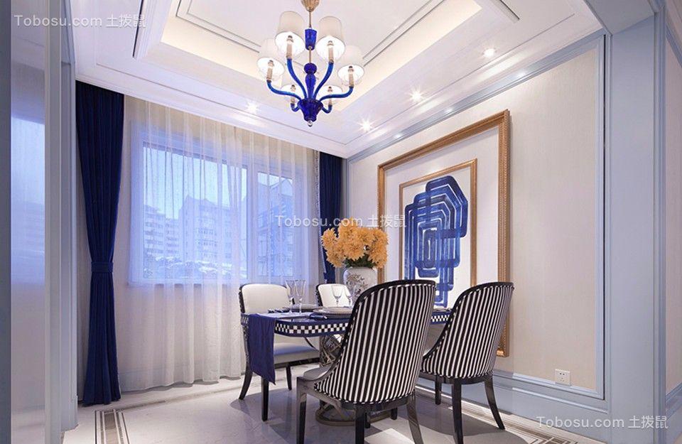 保利心语108平欧式风格三居室装修效果图