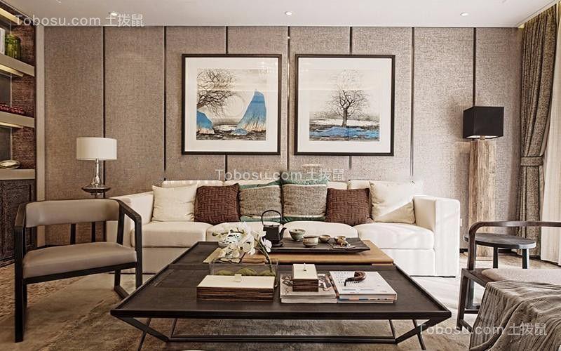 148平方米混搭风格三居室装修效果图