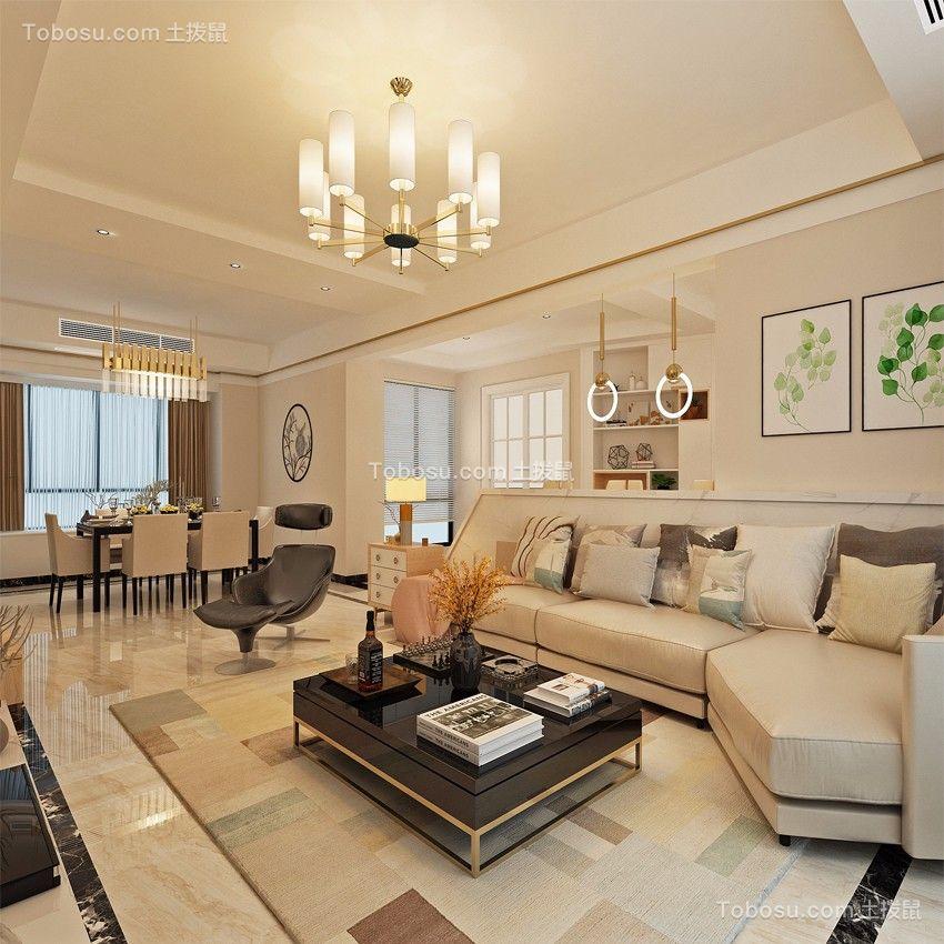 海琴湾132平米现代简约四居室装修效果图