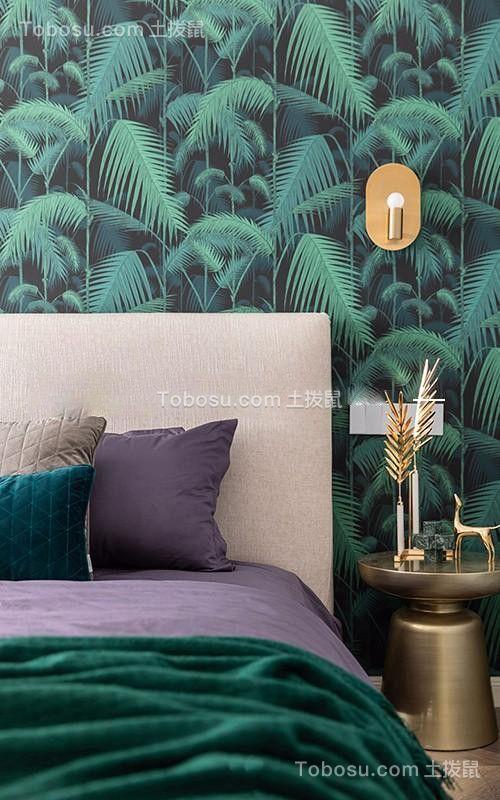 119平方米现代美式风格三居室卧室装修效果图