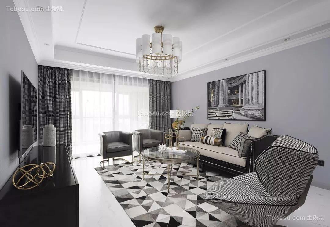 170平轻奢美式四室二厅装修效果图