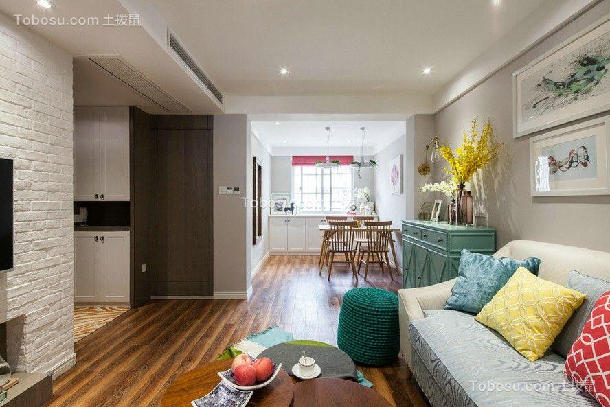 华润国际87平北欧风格小户型客厅装修效果图