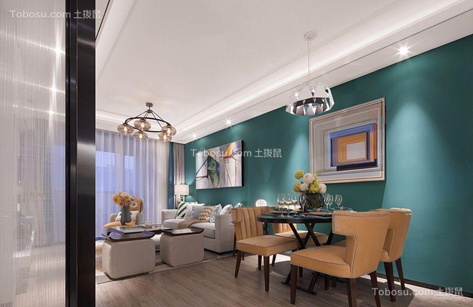 水岸国际110平米现代简约风格二房装修效果图