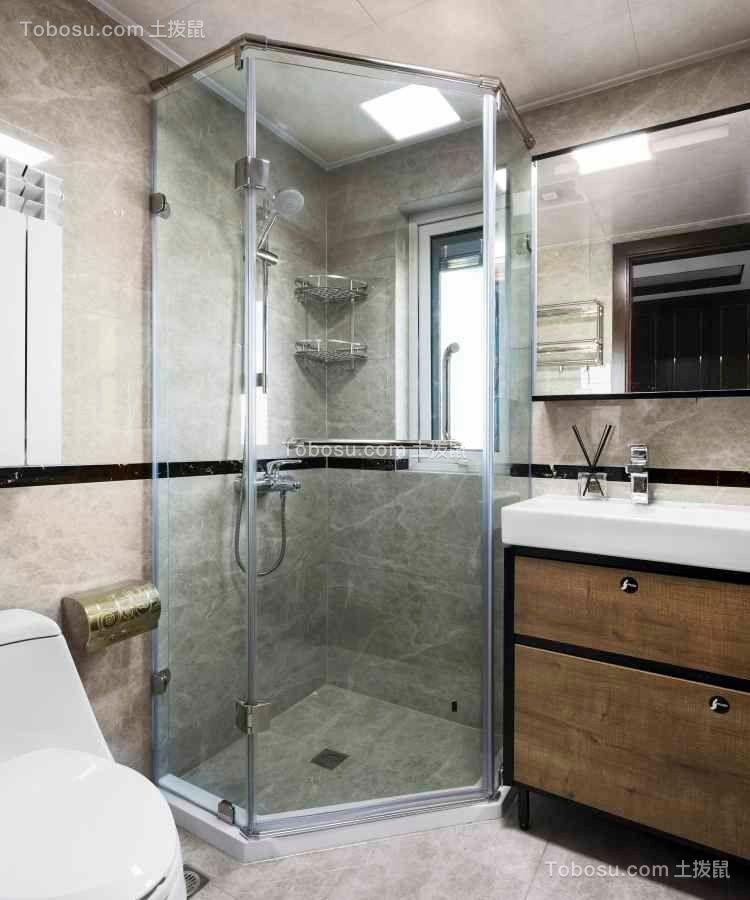 2019中式浴室设计图片 2019中式淋浴房设计图片