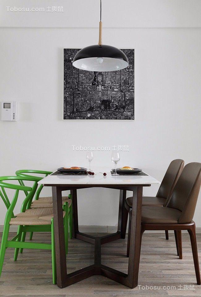 城市印象104平北欧风格三居室装修效果图