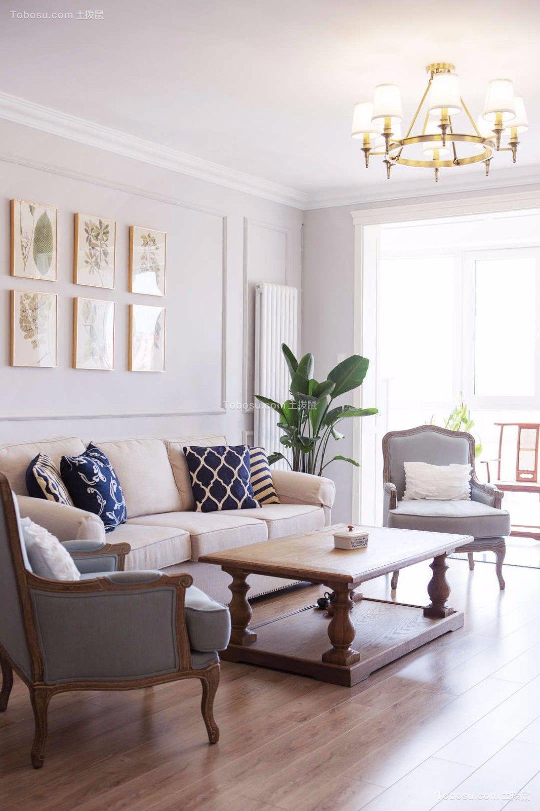 2019法式客厅装修设计 2019法式电视背景墙装修设计图片