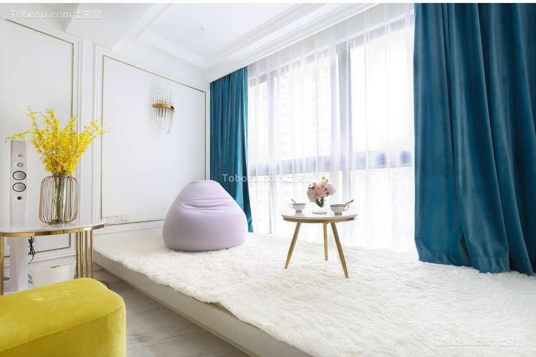 卧室 榻榻米_盛唐城80平美式风格二居室装修效果图