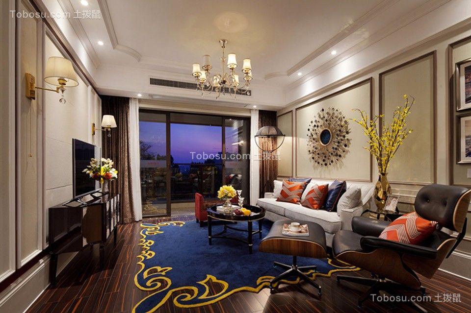 中南国际城120平米欧式风格三居室效果图