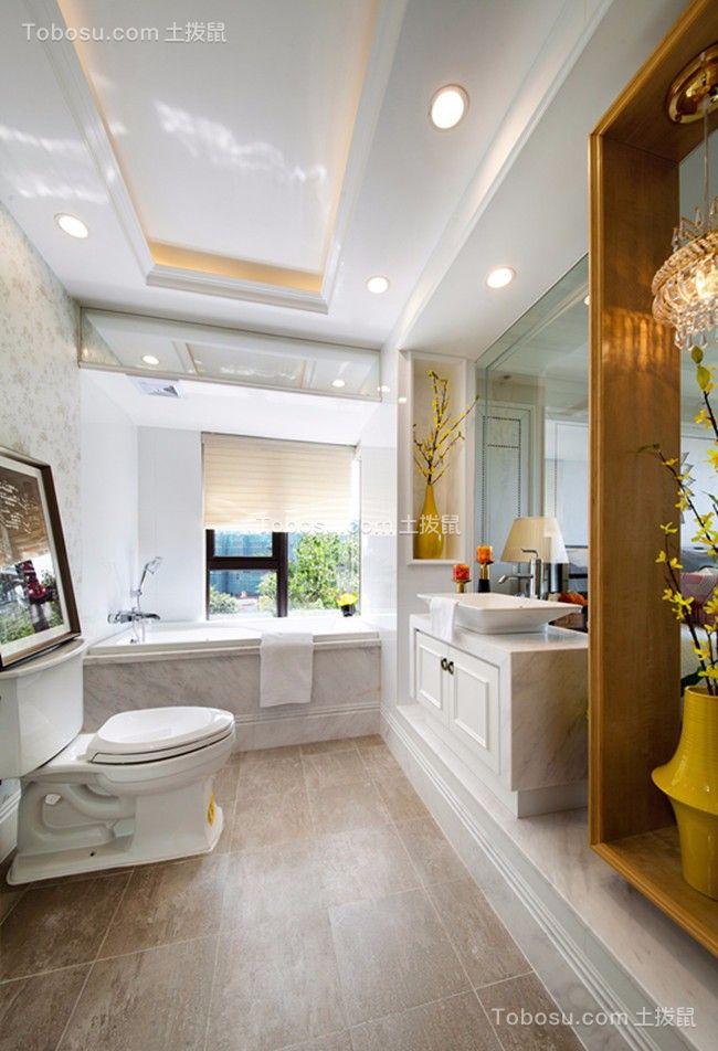 2020欧式浴室设计图片 2020欧式浴缸装修效果图大全