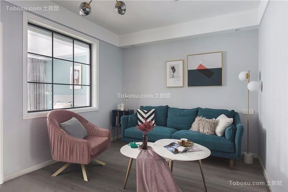 96平米北欧风格三居室效果图鉴赏
