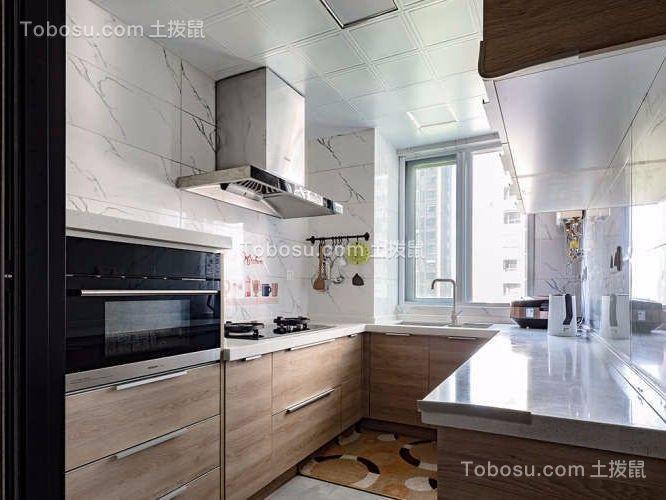简单明亮105平三居室简约风格效果图