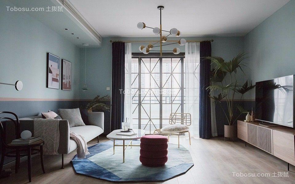 110平方现代简约风格三房装修效果图