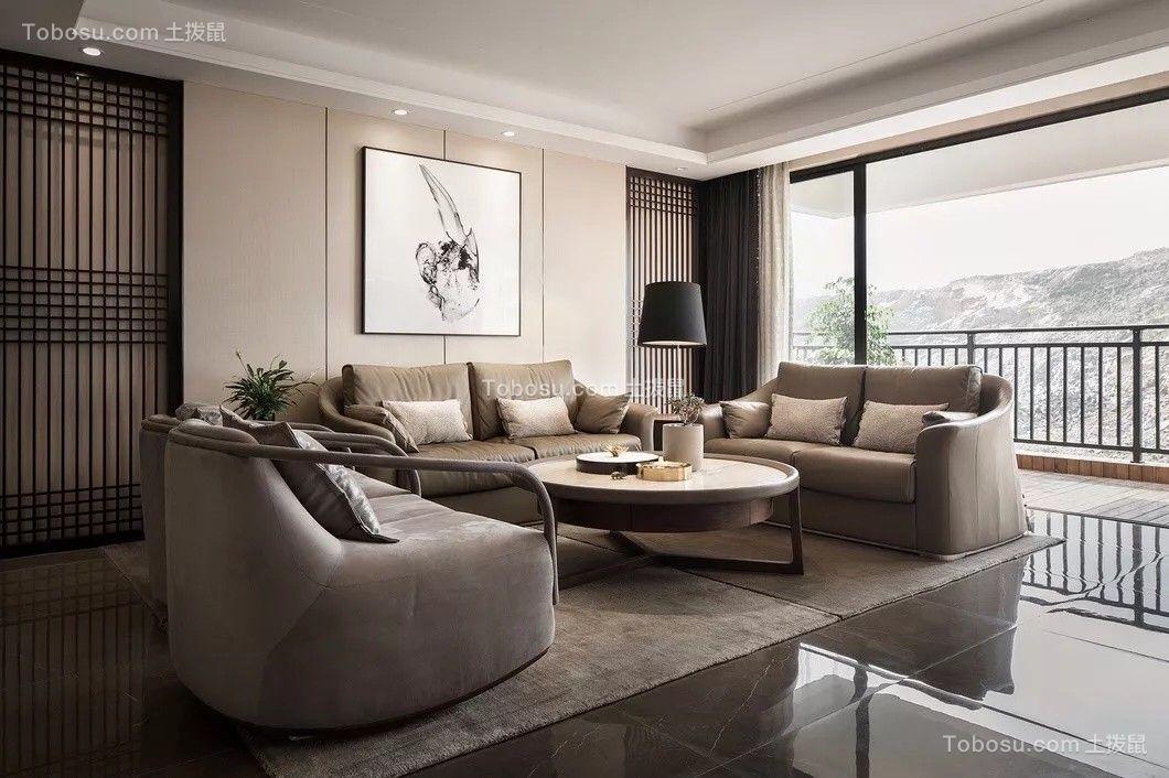 140平现代简约风格三居室效果图