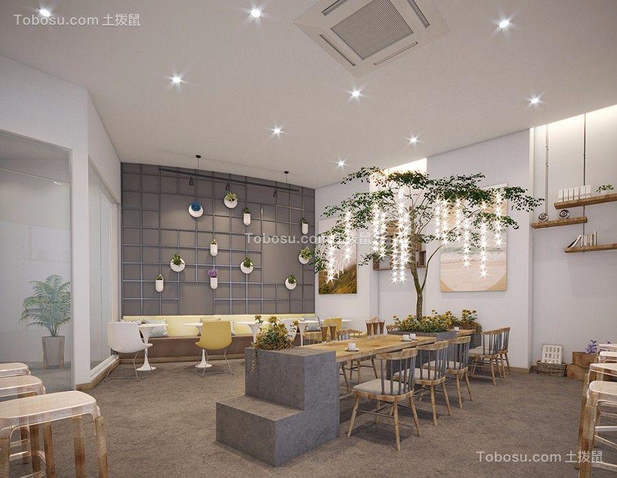 300平网红咖啡厅室内角度图片