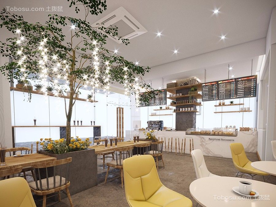 300平网红咖啡厅室内图片