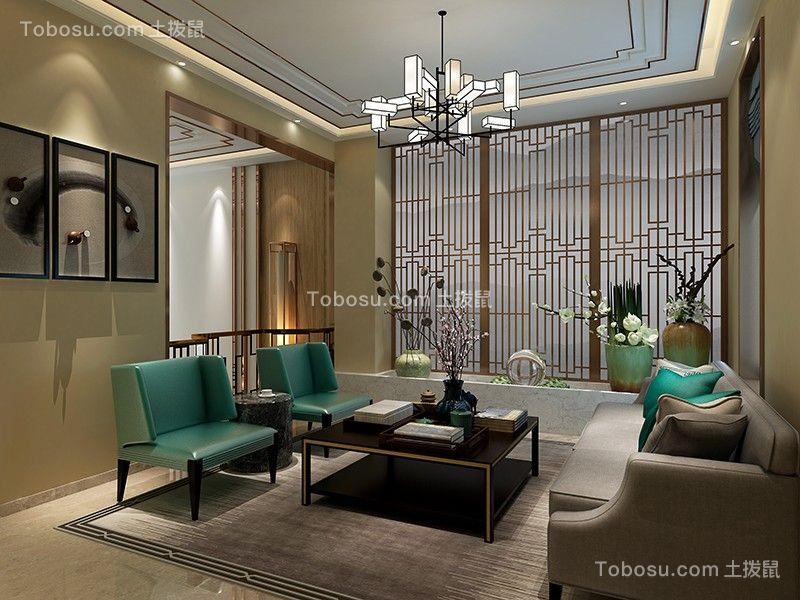 富力城400平新中式风格别墅装修案例图