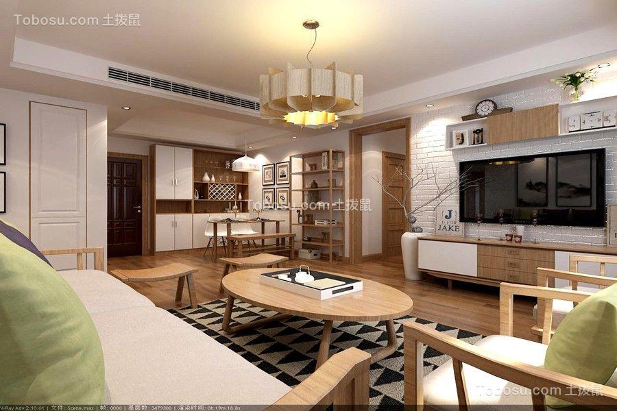 人才公寓105平现代简约风格套三效果图