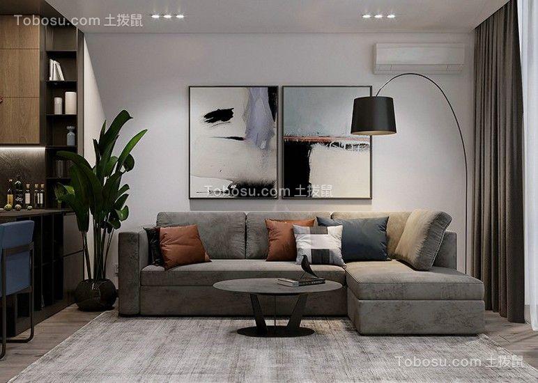 70平方米现代简约风格小户型效果图