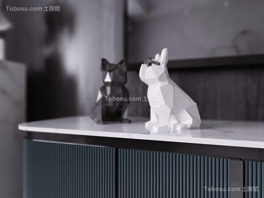 130平现代黑白灰装修效果图