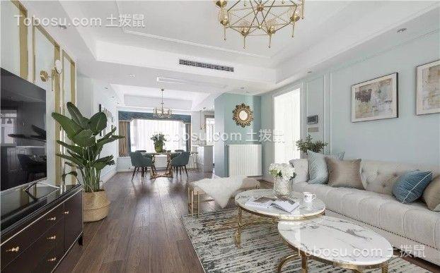 140平轻奢美式3室2厅效果图