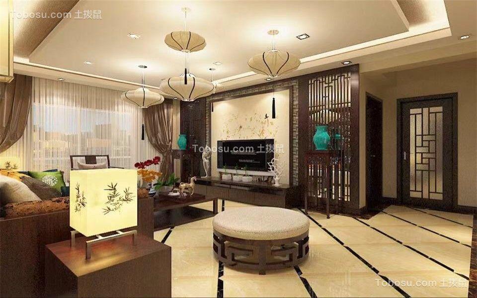 145平米四居中式风格装修效果图