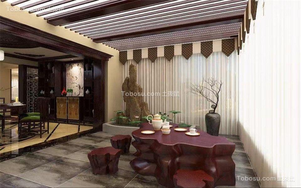 2019中式阳光房设计图片 2019中式茶几效果图