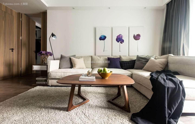 105平方米简约风格二居室效果图
