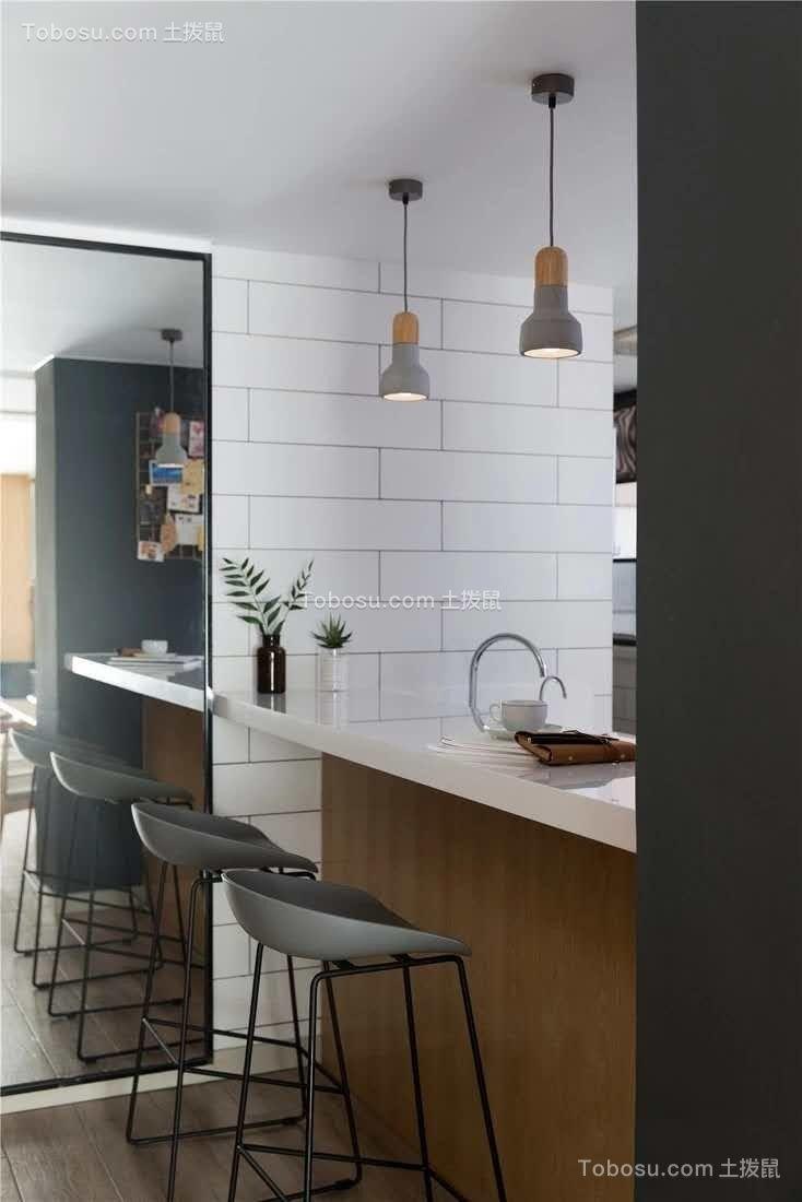 2019北欧厨房装修图 2019北欧吧台装修设计图片