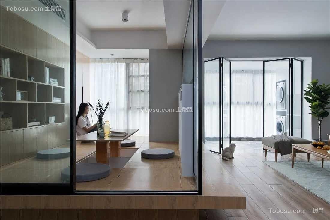120平米北欧格调3室2厅,原来榻榻米可以这么漂亮!