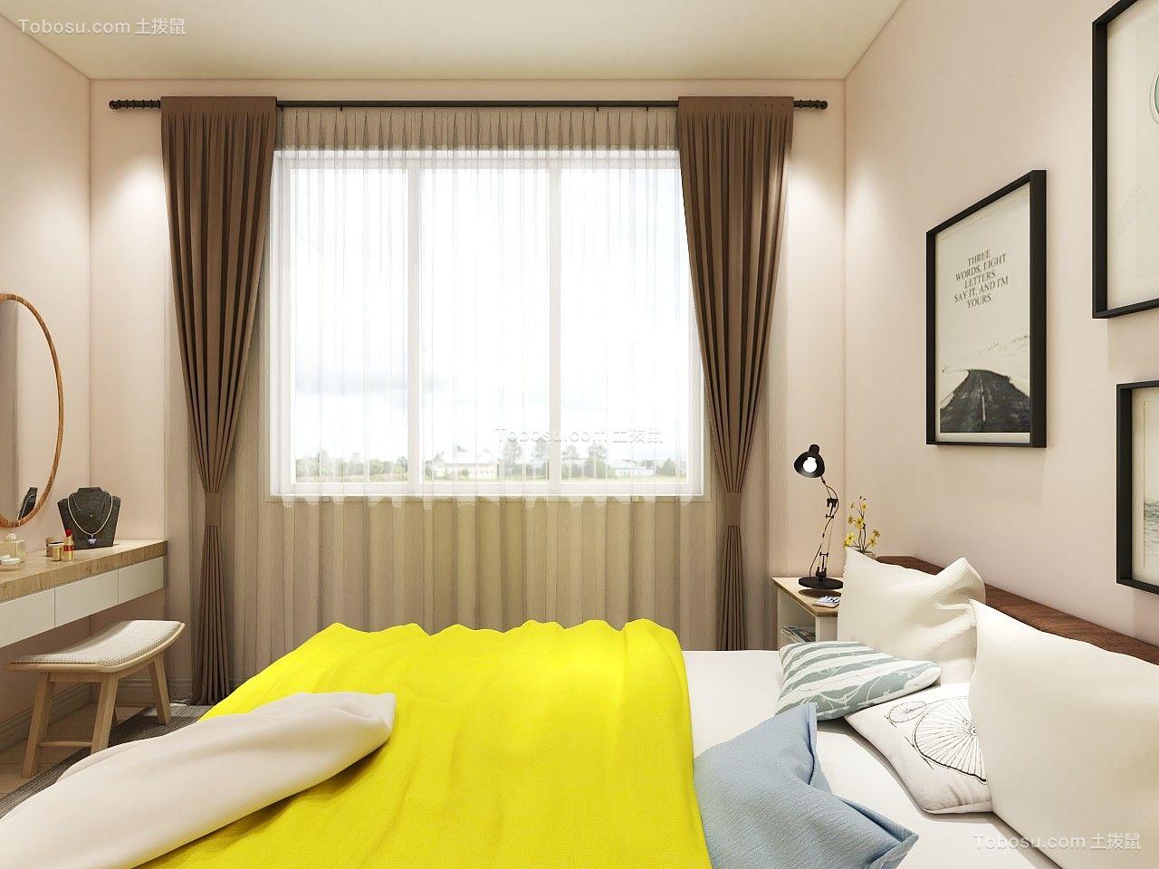 2019北欧卧室装修设计图片 2019北欧窗帘装修设计图片