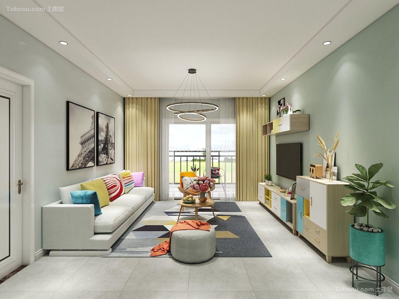 112平米北欧风格三居室9万案例欣赏