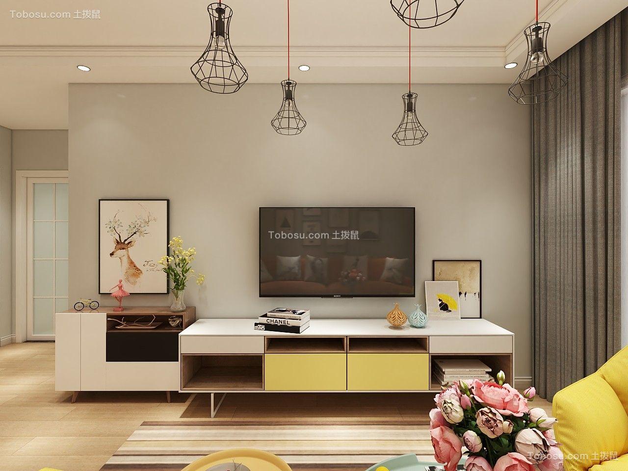 110平米北欧风格三居室9万图片