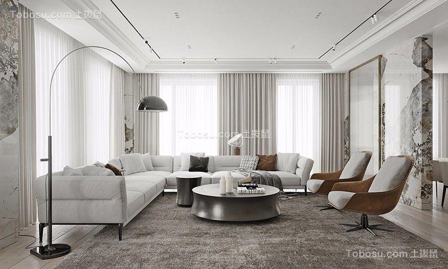 140平现代装修风格三居室效果图