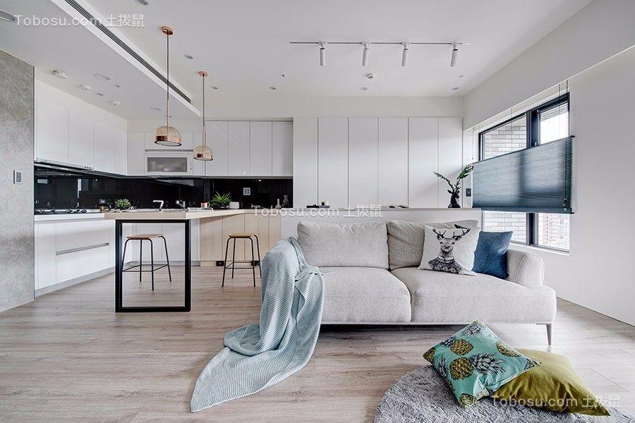 2019现代简约客厅装修设计 2019现代简约飘窗装饰设计