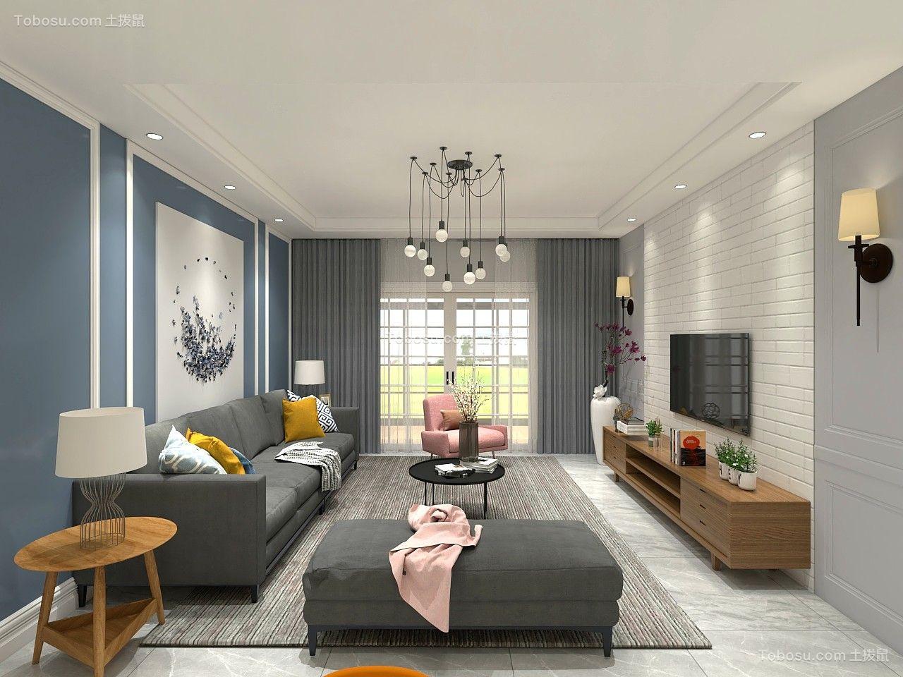137平米现代风格四居室12万效果图