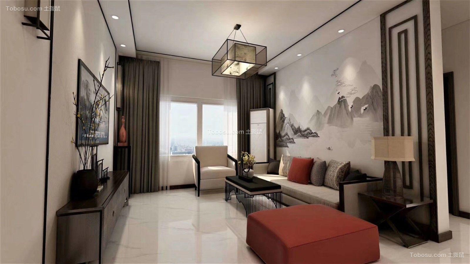 2019新中式客厅装修设计 2019新中式电视背景墙装修设计图片