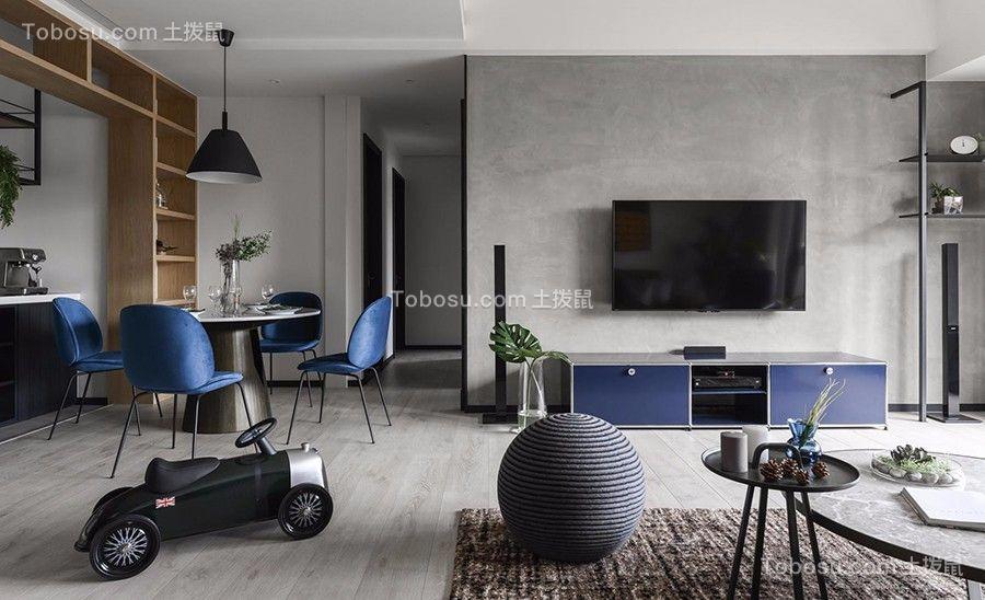 130平LOFT工业风格三居室装修效果图