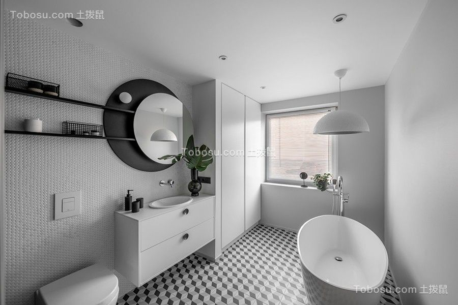 2019现代简约浴室设计图片 2019现代简约浴缸装修效果图大全
