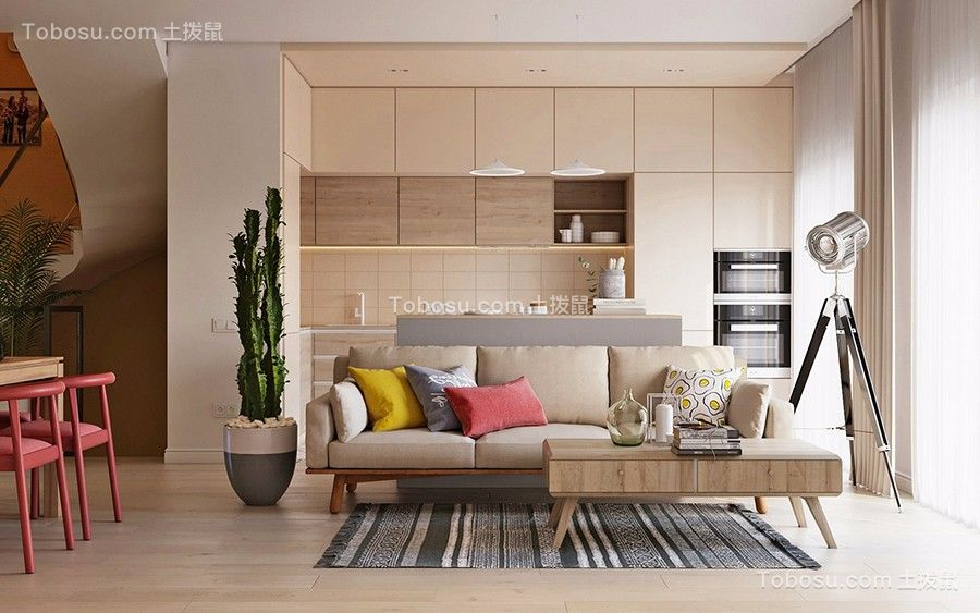 120平米现代风格三房装修效果图