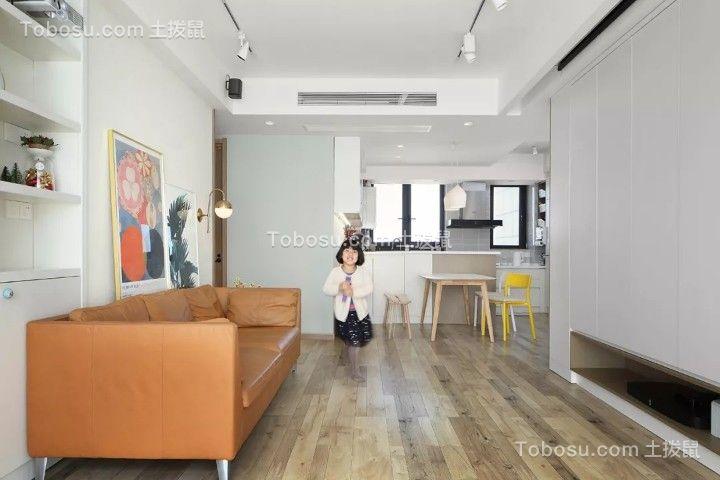 102平米舒适北欧3室2厅,电视背景墙还能这样设计!