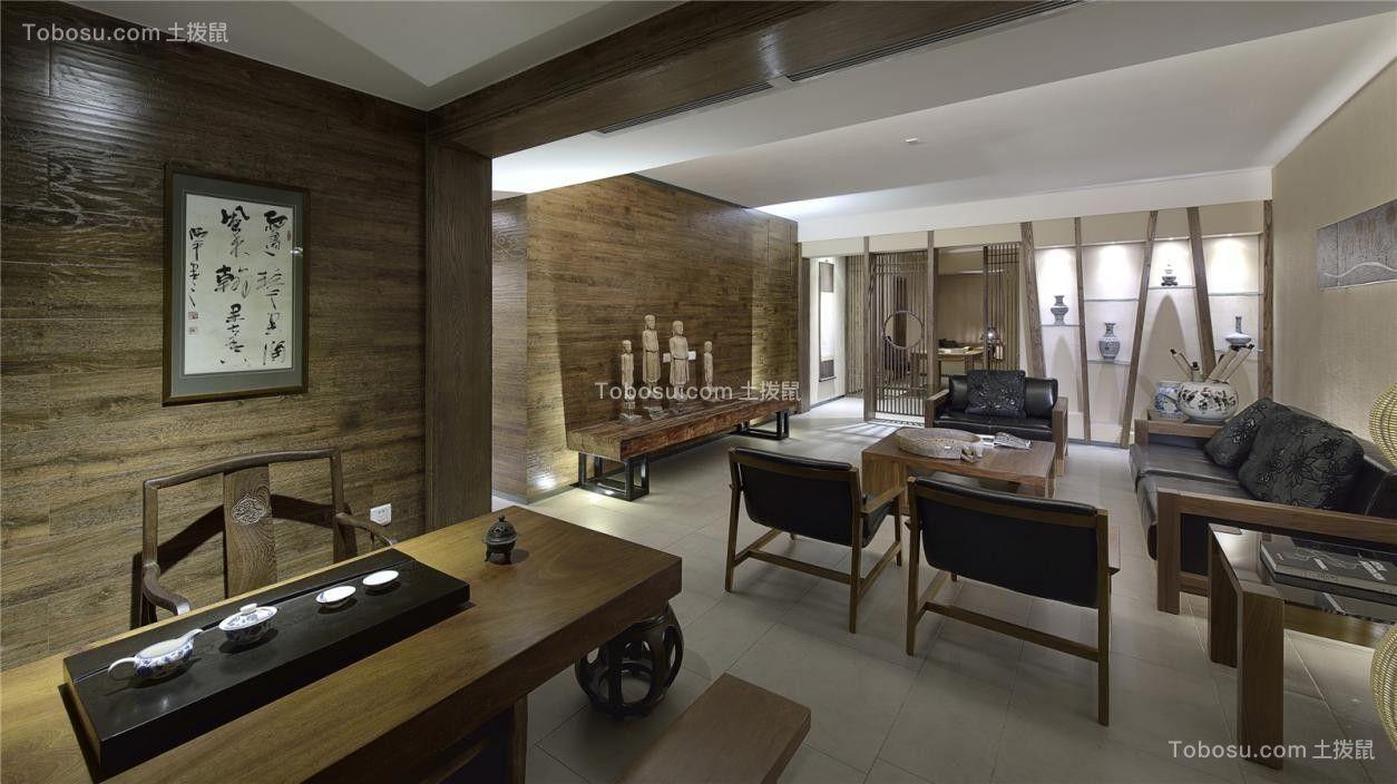 149平方米中式风格三居室装修效果图
