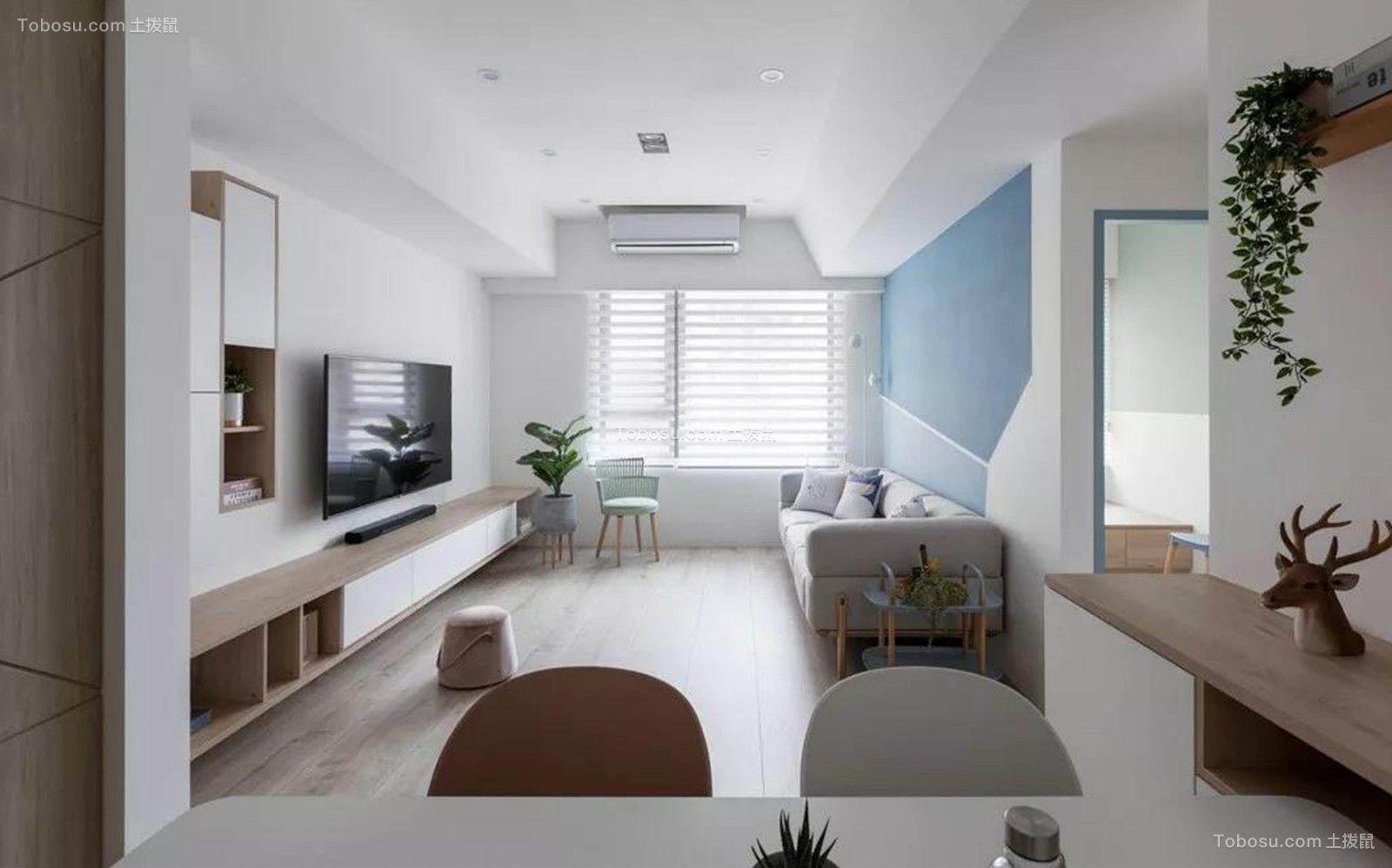 89平现代风格三居室装修效果图