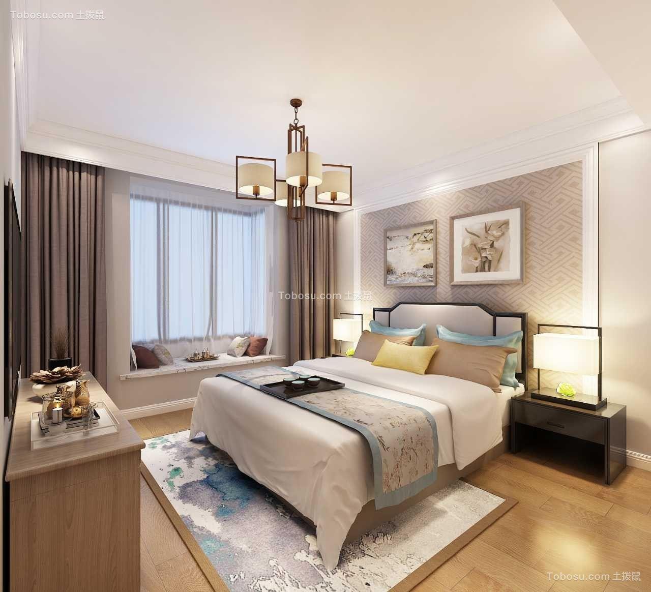 147平中式风格三居室装修效果图