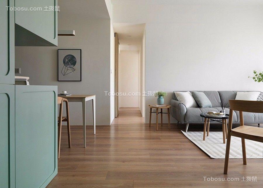 95㎡小清新风格二居室装修效果图