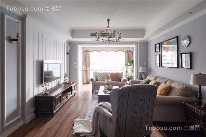 美式风格128平三居室装修效果图